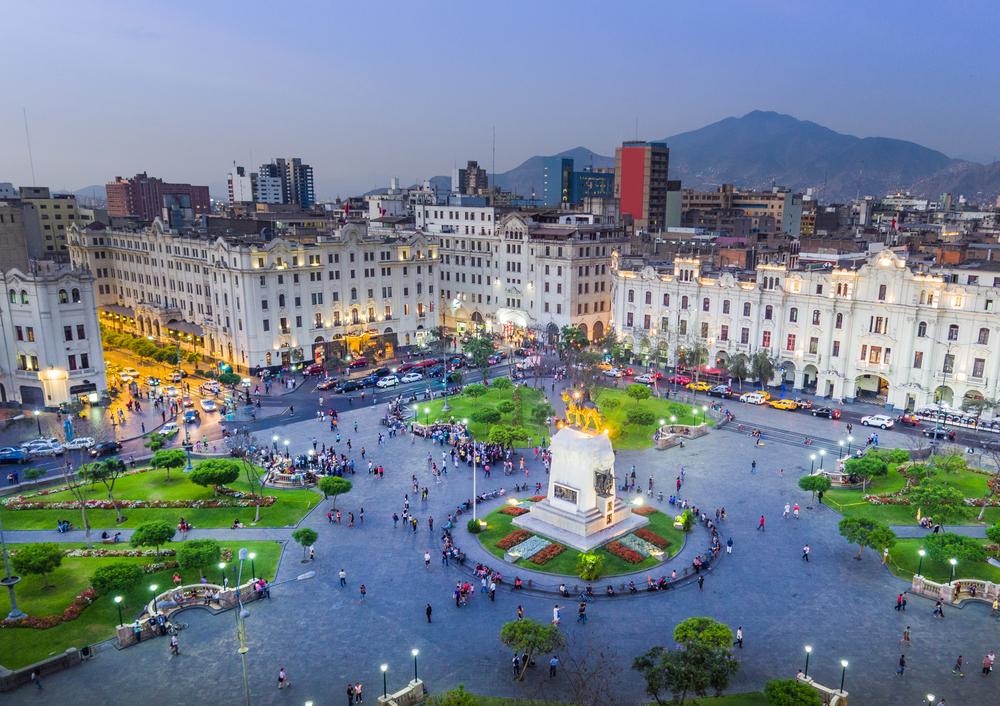 View of Plaza San Martin